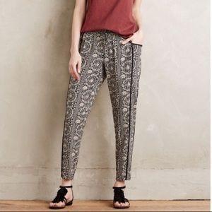 Anthropologie Hei Hei Paisley Print jogger pants
